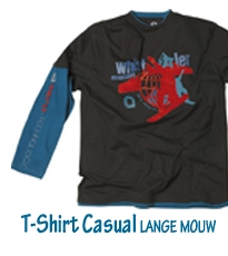 T-shirt Casual Lange mouw